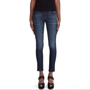J Brand skinny leg Monaco wash raw hem jeans